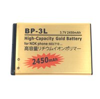 Wholesale Bp 3l Battery - 1PCS BP-3L 2450mAh Original High quality Gold battery For NOKIA LUMIA 505 510 710 610 900 ASHA 303 603