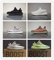 Wholesale Infant Zebra Shoes - Newest Kanye West Boost 350 V2 CP9652 13 color BLACK Red Infant Zebra Men Women White Grey Olive Bred Kanye West Running Shoes sneaker