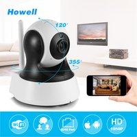 Wholesale Home Mini Surveillance Cameras - Howell Surveillance Camera HD 960P mini IP Home Security Camera CCTV Wifi Mini Camera Baby Monitor Indoor IP Cam Two ways Audio Speaker