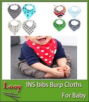 Wholesale Cover Baby Bib - INS fox Baby bibs Burp maternity Cloths 2016 new baby girls boys cartoons waterproof Pure cotton breastfeeding covers bibs burp cloths