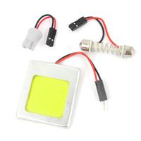 adaptador de panel led ba9s al por mayor-xenón blanco 48SMD COB Chip LED T10 Adorno BA9S Adaptadores auto LED Dome Panel Light Bulb Blanco