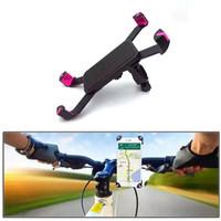 universal-fahrradhalterung großhandel-Anti-Rutsch Universal 360 Rotierenden Fahrrad Fahrrad Telefon Halter Lenker Clip Stand Halterung Für Smart Mobile Handy