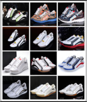 Wholesale White Wedding Lights Sale - Italy Brand Hot Sale D2 Casual Shoes for Men Fashion DSQ2 Male Party Shoes Wedding Man Flat Leather Mens DSQ Shoes Sneakers Shoe