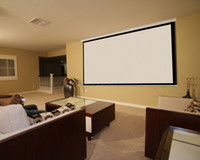 Wholesale 100 quot Home HD Movie Manual Projection Screen Pull Down Projector Matte White