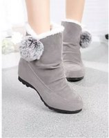 Wholesale Wedge Snow Boots For Women - 2016 hot sale women boots ankle suede snow boots winter shoes for women boot shoe size 35-40