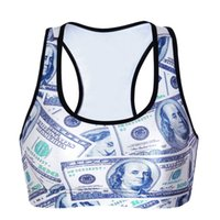 Wire Free Yoga T-Shirt Bodybuilding Tank Tops Workout Jogging BH Push Up Stretch Sport Weste 3D Print Quick Trocken Frauen Wire Free LNSsb