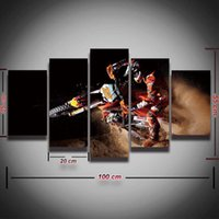 Wholesale mirrored panels for wall - Printed Motocross Canvas Painting Modular Picture for Wall Art Home Decor Living Room Prints Artwork Panel Painting Set