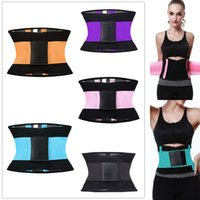 Wholesale Men Purple Girdle - Women& Man Fitness Waist Trimmer Postpartum Corset Belt Firm Slimming Belly Xtreme Power Belt Sport GYM Waist Trainer Girdles Body Shapers