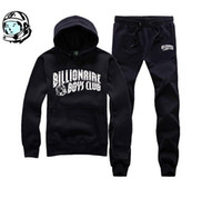 Wholesale Boys Knitted Tops - 2016 new arrival hip hop track suit BILLIONAIRE BOYS CLUB men's jogging suit autumn winter warm pullover hoodie quality BBC Top + pants