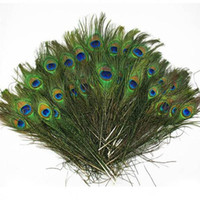Fashion Feather 20Pcs Beautiful Blue Peacock Feather 23-30cm / 8-12 inch For DIY Clothing Hat Jewelry Decoration