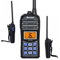 Schinken-handsender Kaufen -5W / 1W VHF Walkie Talkie RS-35M IP67 Wasserdichte Marine Radio LCD Display Float Transceiver 70CH Zweiweg Ham Radio