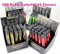 E ShiSha Hookah Stylo Jetable Cigarette Électronique Pipe Stylo Cigare Jus de Fruits E Cig Bâton Shisha Temps 500 Puffs Coloré 35 Saveurs