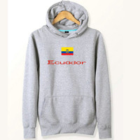 Polartec Windbloc Kaufen -Ecuador flag hoodies Nizza banner druck sweat shirts Land fleece kleidung Pullover sweatshirts Outdoor sport mantel Gebürstete jacken
