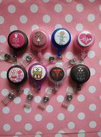 Wholesale Reel Id Badges - Wholesale-Mixed Alternative Nurse Design ID Badges Reel x 8