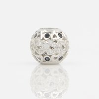 Wholesale Fit Loose Diamonds - 925 Silver Big Hole Beads for European Charm Bracelets Hollow Design CZ Diamond Bead Fits for Pandora Bracelet Metal Loose Beads Jewelry DIY