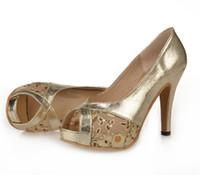 e85cefdd0ca02 Plate-forme de femmes sexy à talons hauts pompes Peep Toes Glitter Florly  Patch travail or noir chaussures de mariage