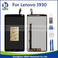 outils d'assemblage iphone achat en gros de-En gros - Pour Lenovo S930 Écran LCD d'origine Écran Tactile Digitizer Assemblée Repalcement Pièces + Outils