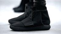 Wholesale Cheap Fur Heeled Ankle Boots - Hot Sale Boost 750 Blackout Outdoor Sneakers,discount Cheap Kanye West Boosts 750 Boosts, Skateboard Shoes,Sneakeheads Mens Womens shoes