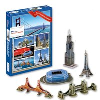 Jigsaw 3D Puzzle Model for Kids Jouet éducatif Gift Mini World Great Architecture Collection