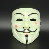 Wholesale v for vendetta mask plastic resale online - The V for Vendetta Cosplay masque Mask Anonymous Guy Fawkes Fancy Dress Adult Costume Accessory macka mascaras halloween