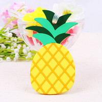 Wholesale Gift Suitcases - Pineapple Luggage Tag Cute Soft Silicone Travel Suitcase Baggage Tags Creative Boarding Pass Practical Gift Wedding Souvenirs 4 8sf F R