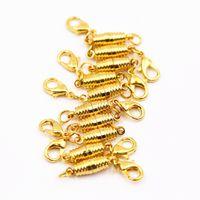 Wholesale Magnetic Bracelet Clasps 5mm - 10pcs Gold Lobster clasp + golden thread magnetic buckle bracelet necklace clasp 17*5mm