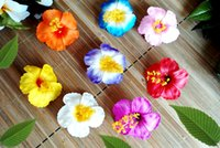 "Wholesale Flower Dancers - NEW FREE SHIPPING 144PCS  LOT KL1055 8 colors 3"" FOAM HIBISCUS HAIR CLIP WHITE HAWAII TROPICAL FLOWER,SUMMER BEACH HULA DANCER WEEDING"