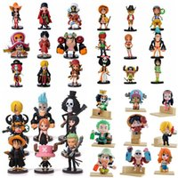 Wholesale Mini Figure One Piece - Anime One Piece PVC Action Figures Cute Mini Figure Toys Dolls Model Collection Toy Brinquedos 9 Piece Set Free Shipping