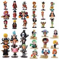 tek parça oyuncak koleksiyonu seti toptan satış-Anime One Piece PVC Aksiyon Figürleri Sevimli Şekil Oyuncaklar Bebekler Modeli Koleksiyonu Oyuncak Brinquedos 9 Parça Set Ücretsiz Kargo