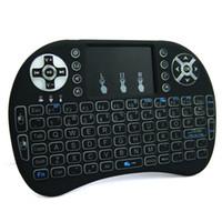 android keyboard qwerty touch großhandel-Rii I8 Hintergrundbeleuchtung Weißlicht Drahtlose Tastatur Und Maus Mit Touchpad Handheld Für MXQ pro 4 Karat S905X S905 S912 TV Box 10 p