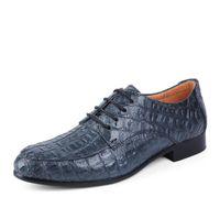 ingrosso gli abiti di affari più il formato-Scarpe oxford in vera pelle per uomo Scarpe casual uomo in coccodrillo Scarpe eleganti da uomo Plus Size Scarpe da sposa Uomo 36-50