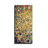 Wholesale Handpainted Huge Wall Art Large - Large single Abstract flower cheap huge vertical oil painting on canvas modern flower painting canvas wall art picture room