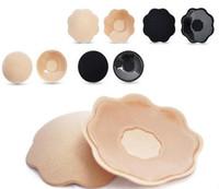Wholesale Nipple Cloth - 2016 New Cloth MINI cover Women Silicon Nipple Cover Breast Petals Invisible Pads Silicon bra