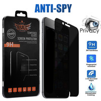 iphone için gizlilik ekran koruyucuları toptan satış-Gizlilik IPhone X XS Max XR Için Temperli Cam 8 8 Artı Anti-Casus Ekran Koruyucu 9 H Sertlik Temperli Cam Samsung J3 J7 Başbakan Kutusunda