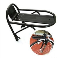 Wholesale Front Pannier Rack - Wholesale-Sales Promotion Cycling Bike Aluminum Alloy Front Rack Bracket Bicycle Carrier Pannier Racks wholesale