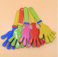 Wholesale Wholesale Hand Clapper - Plastic Hand clapper clap toy cheer leading clap for Olympic game football game Noise Maker Baby Kid Pet Toy