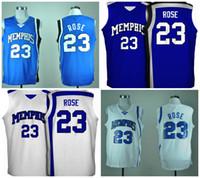 release date: b001e 2a36e ncaa basketball jerseys memphis tigers 23 derrick rose white ...