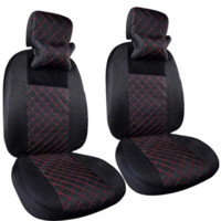 Wholesale 3mm Cotton - HOT High range seat covers 3mm Composite embroidery and sandwich universal car seat cover 11pcs sets compatible most ehicles