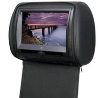 Wholesale Car Dvd Digital Panel - 2x 7 inch headrest car dvd, USB ,SD, FM, IR,game,remote control,OSD language,AV, leather zipper, digital panel