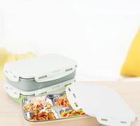 mess box venda por atacado-Adulto Jantar Balde Frutas Legumes Recipiente Lunch Box Cor de Aço Inoxidável À Prova de Calor Piquenique Mess Lata Handiness 18 71ct C R