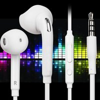 Wholesale ear headphones remote mic online – 3 mm in ear earphone headphone With Remote Mic headset Earphones for samsung s6 s7 edge s8 s8 with retail box