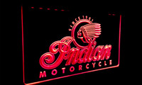 ingrosso illuminazione al neon per motocicli-LS087-g Indian Motorcycle Services Logo Neon Light Sign