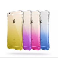 Wholesale Transparent Waist Back - Clear Ultra-thin with incoming calls Flash Up function cellphone cases gradient color thin waists TPU back cover case for iphone 6 6s plus