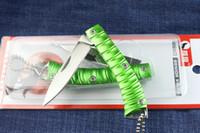 cuchillo plegable de porcelana al por mayor-China OEM Pequeño Cuchillo Plegable de Bolsillo 440C 56HRC Tactical de Acero que Acampa Caza de Supervivencia Cuchillo de Bolsillo Utilidad Llavero Herramientas EDC