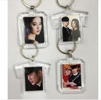 Wholesale Clear Plastic Photo Keychains Wholesale - 13 style DIY Acrylic Blank Photo Keychains Shaped Clear Key Chains Insert Photo Plastic Keyrings