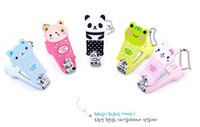 Wholesale Nail Cartoon Character - Cartoon Baby Nail Clipper New Cute Children's Nail Care Cutlery Scissors Animal Infant Nail Clippers with Keychain