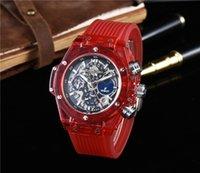 Wholesale Watches Hb - Swiss brand HB watch men's luxury quartz watch Classic Series Men's watches Transparent fashion Sport Relogio AAA famous brand Wristwatches