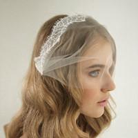 Wholesale blusher veils for sale - Group buy Vintage Lace Tulle Bandeau Birdcage Wedding Veil With Combs Blusher Veils Headband Veil cm Wide Birdcage Bridal Veils