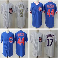Wholesale Baseball Base - 2017 Men Chicago Cubs Jersey 17 Kris Bryant 44 Anthony Rizzo 9 Javier Baez Stitched Authentic Baseball Jersey Flexbase Cool Base jerseys
