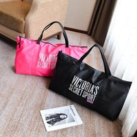 Large VS Letter Handbags 2 cores VS Pink Shoulder Bags Grande capacidade Travel Duffle Striped Waterproof Beach Bag